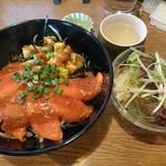 発酵キッチン tokotoko - アボカドサーモン丼セット 食べログワンコインランチ価格:税込540円