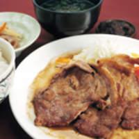 駿河亭 - 富士の国ポーク生姜焼き定食\880