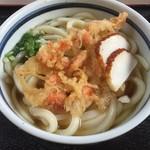 手打ちうどん よこい - 料理写真:天ぷらうどん大サイズ 420円