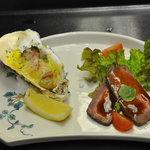 6706849 - 牡蠣とローストビーフ