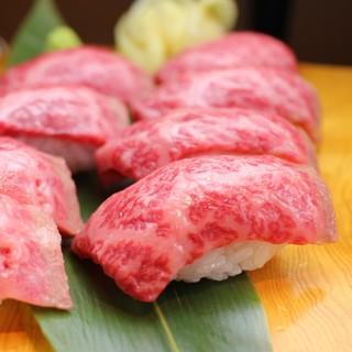 【話題の】和牛赤身にぎり【肉寿司】