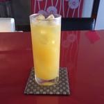 上尾そーめん きゅんきゅん亭 - やっぱりジュースはオレンジが一番♪