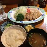 とんかつ あじろ - 生姜焼き定食