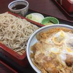 やぶそば - ♪かつ丼+もり(小)¥750 もり大盛り¥100