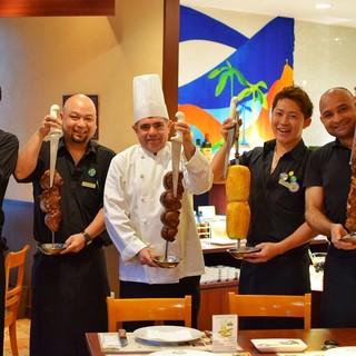 調理師は経験豊かなブラジル人シェフ