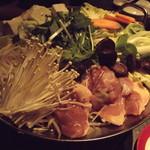 67067314 - ・ 神田川俊郎監修鶏つくねともも肉の塩ちゃんこ鍋(2017年3月)