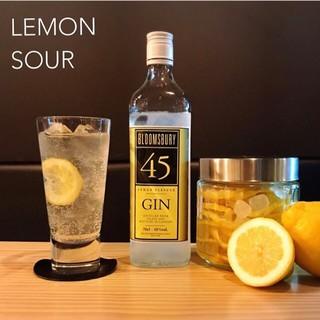 一番人気のジンを使った自家製レモンサワー