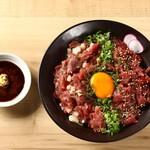 桜肉寿司と飛騨牛もつ鍋 TATE-GAMI - うまとろユッケの二色丼