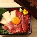 桜肉寿司と飛騨牛もつ鍋 TATE-GAMI - 馬刺ざんまい重