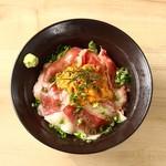 桜肉寿司と飛騨牛もつ鍋 TATE-GAMI - うにく丼
