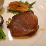 スーツァン・レストラン陳 - 前菜 鰤の紹興酒漬け