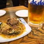 大衆食堂 稲田屋 - 肉皿 & 生ビール