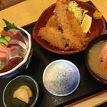 67072866 - ミニ磯人丼&フライ定食(2,160円)