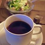 CAFE Uchi - ブレンドコーヒーとミニサラダ(ランチ)