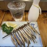 居酒屋 葉牡丹 - キビナゴ塩焼476円