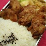 ふじや からあげ店 - 料理写真:からあげ弁当 大 580円