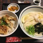 兎麦 - とり丼☆★★☆冷 ぶっかけうどん1.5 ( ´∀`)
