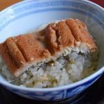 67081407 - 蕎麦の実の飯蒸し 穴子のせ(蕎麦三昧)