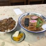 牛太楼 - 料理写真:牛めしラーメンセット