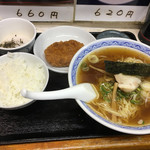 三松 - ラーメン定食(580円)
