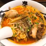 カラシビ味噌らー麺 鬼金棒 - カラシビ味玉辛味噌らー麺(900円)