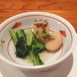 67086303 - 小松菜、焼き大根、里芋、お出汁が効いてて最高ー!