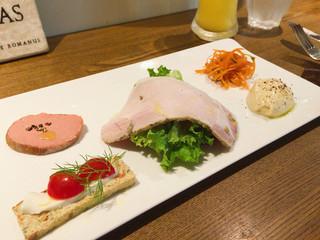 トラットリア ボッカ・ルーポ - シェフのおまかせ前菜の5種盛り合わせ どのお料理も丁寧に作られていてオイシイ♡