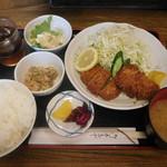 めし板垣 - メンチカツ定食¥830-