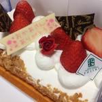 三木山スイーツガーデンフジキ - この苺のケーキは私もいただきました(2017.5.14)