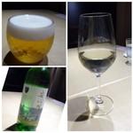 TTOAHISU - ◆最初に「ビール(700円:税込)と安心院の白(価格不明)」を。 安心院は前回頂いた品よりもサッパリした味わいですね。前回の方が好きかも。