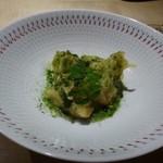 TTOAHISU - ◆筍のベニエ・・筍も旬ですね。揚げたてを食べてほしいとのこと。