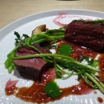 TTOAHISU - ◆急遽用意してくださった「馬肉」、カルパッチョ用なので少し噛みごたえがあるとの説明でしたが、 そうでもなく・・ クセがなく食べやすかったですし、豚よりこちらの方がよかったですね。