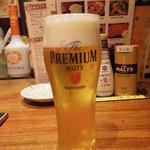 一翠 - 生ビール