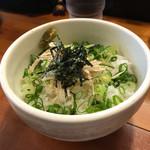 麺屋 一徳 - 〆飯  180円