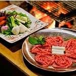 芦名 - 料理写真:焼きしゃぶ(写真は150gです)