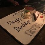 オービカ モッツァレラバー - お誕生日プレート出してもらいました♪