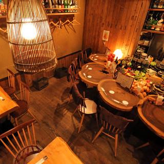 ほっこり空間で、楽しいお食事を・・・!