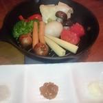 燻製キッチン - スキレットで蒸すたっぷり温野菜