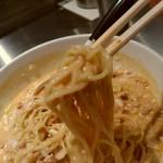 高崎はた山 - 【2017.5.16(火)】冷し担担麺(並盛・180g)900円の麺