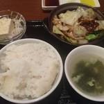 矢場CHINA - 中華ランチセット 1,080円 自家製味噌の回鍋肉+小籠包