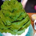 茶匠 清水一芳園 - 宇治抹茶氷エスプーマ仕立です♪