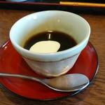 古式手打うどんそば 達磨 - サービスの「コーヒーゼリー」