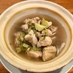 鶏肉の緑茶煮込み