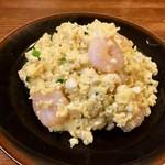 豆腐とエビの卵炒め