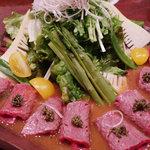 焼肉 穂坂 - 牛タタキサラダだっけ?