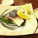 蕎麦見世のあみ - 鯖のきずし¥700