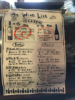哲剣 - ワインリスト