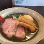 麺屋大河 - イカ墨入りの黒味噌ラーメン