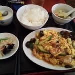 京香房 - 肉卵炒め定食