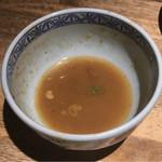 三田製麺所 - スープ割りを頂きました~